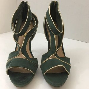 Forever by Paula Abdul Green Vintage Heels